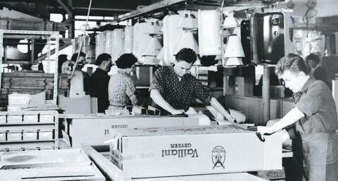 Историческая фотография упаковки продукции компании «Vaillant»