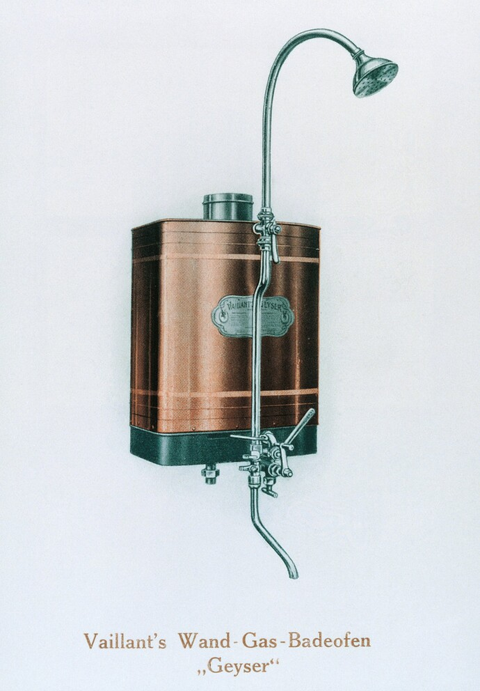 Vaillant becomes the first producer of a wall-hung bathwater heater