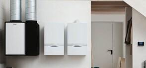 Новая гибридная система компании «Vaillant», объединяющая тепловой насос и конденсационный котел